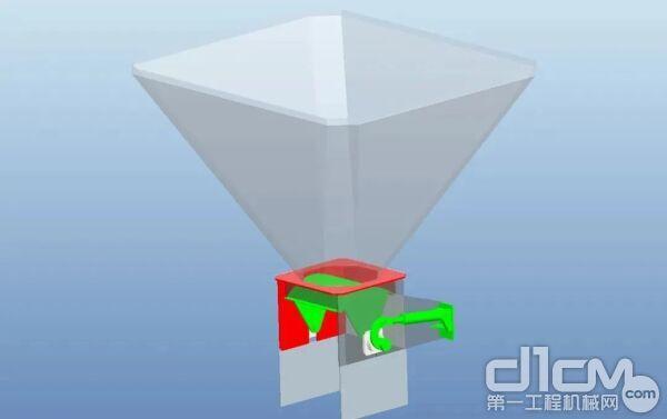 中联发明的新型液压门式集料斗