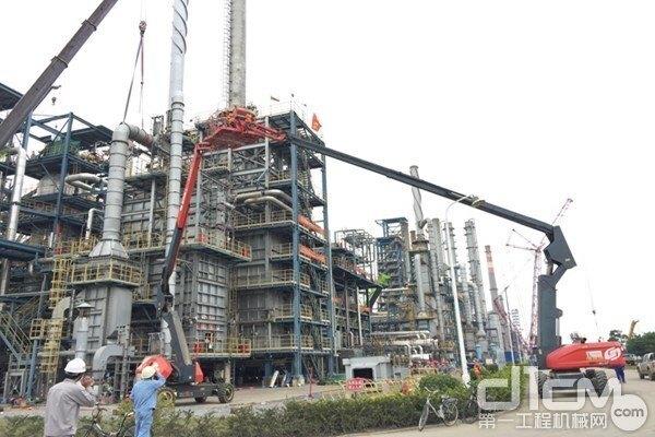 40台星邦高空作业平台助力中科炼化一体化项目建设