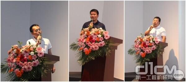 韬盛科技总工程师王大明、工程服务部总监刘平、安全部总监王术明(由左至右)