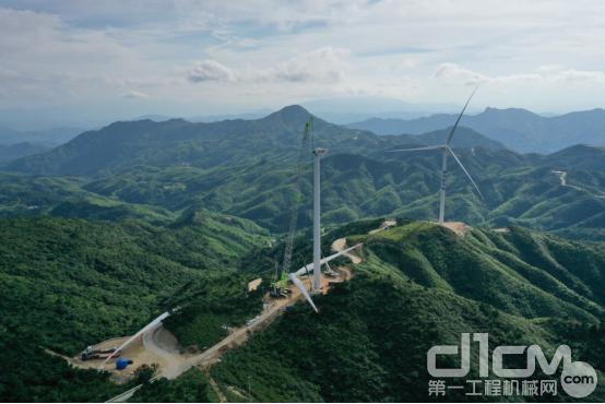 湖南郴州仰天湖天二期50MW风电项目工程全貌