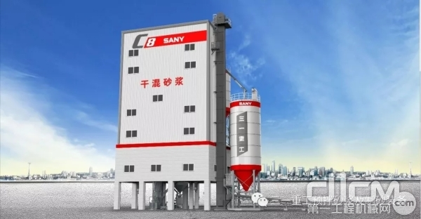 湖南省云传订购的三一重工干混砂浆楼示例图