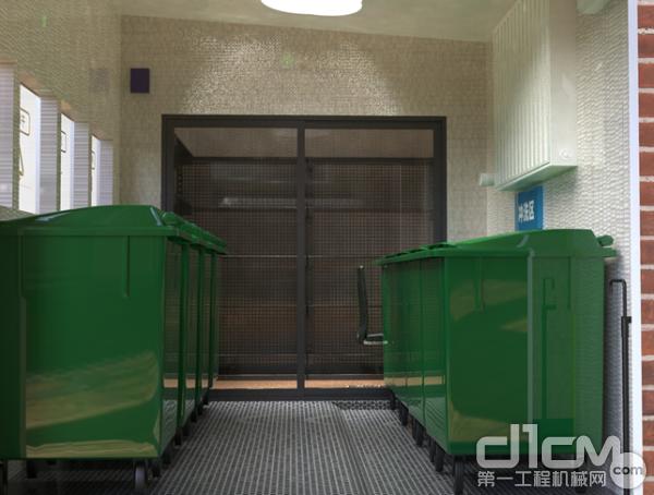 徐工智能生活垃圾分类收集房内部构造效果图