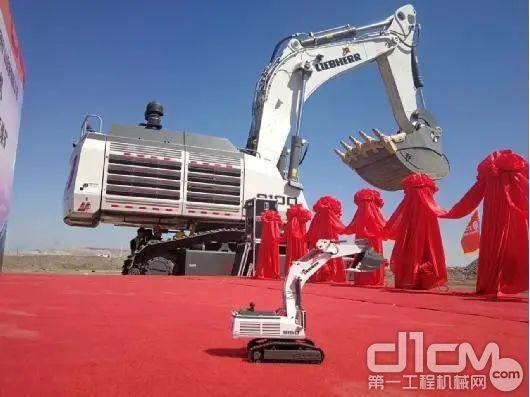 新疆首台利勃海尔矿用液压挖掘机R 9100B交付新疆用户
