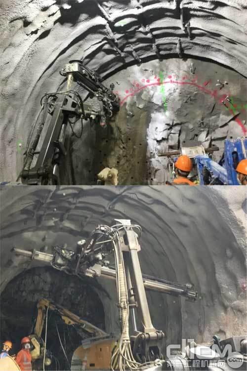 施工隧道内拍图