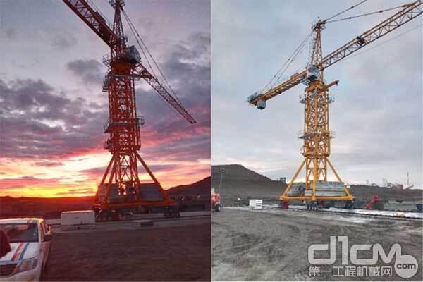 ▲中联重科塔机在阿根廷最南端水电站项目施工现场