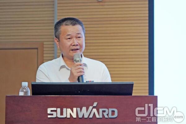 山河智能执行总经理夏志宏做《2020年半年度经营工作报告》