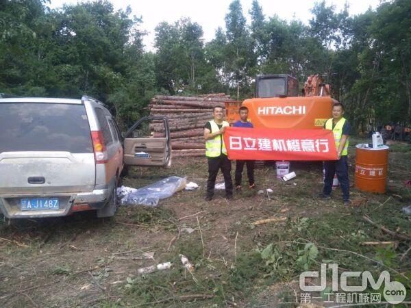 吉林省服务人员与客户合影