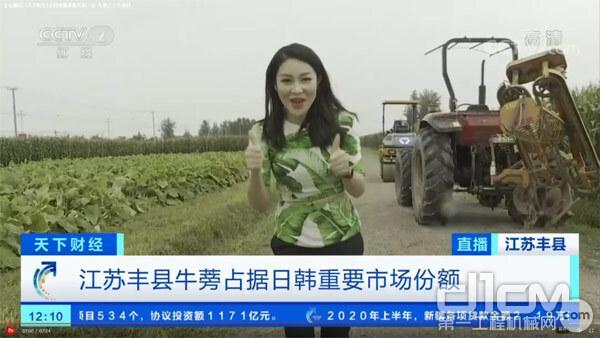 CCTV《走村直播看脱贫》节目截图
