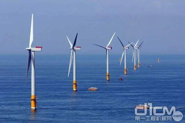三一起重机助力江苏如东筑牢海上风电场