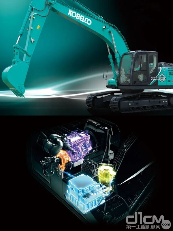 ▴神钢成功研发了采用混合动力系统的挖掘机,比原有机型节能40%,实现更低油耗、更高耐久的作业体验。