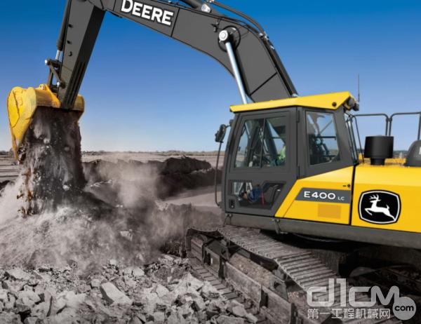 新王登基!約翰迪爾全新E400LC挖掘機正式君臨礦山!