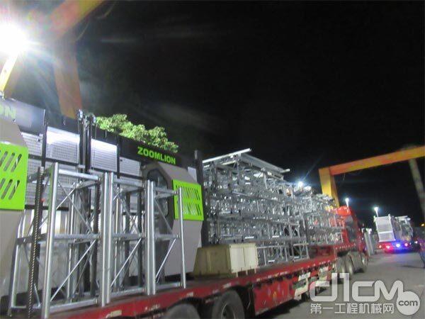 △全新一代节能型施工升降机SC200/200EB(BWM-4S)发往客户工地