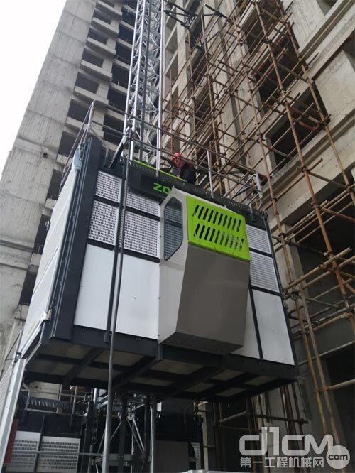 △全新一代节能型施工升降机SC200/200EB(BWM-4S)在工地