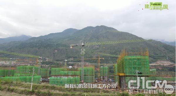 中联重科超70台塔机助建白鹤滩水电站移民工程 尽显卓越风采
