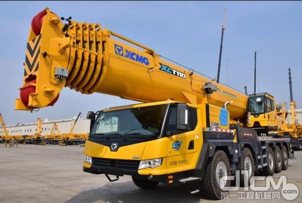 """徐工百吨级全能王XCT110_I,""""承包""""了这里的百米高空吊装"""