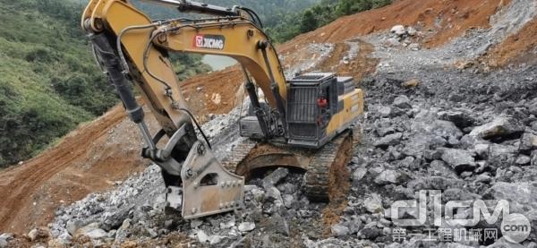 徐工大挖矿山施工