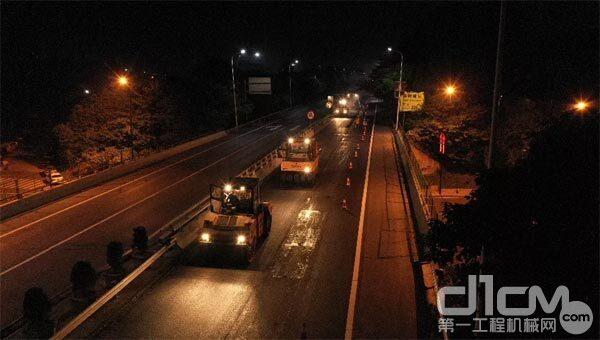家门口的高速路 三一成套路面设备助力杭长高速提质改造工程