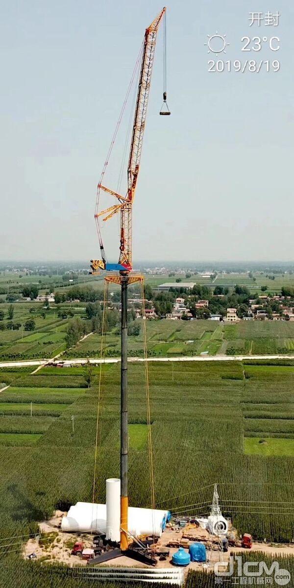五花八门的风电吊装设备-4。也许有人发明了更先进的风电吊装技术和设备而弃用了吊车