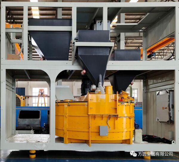 【产品风采】方圆集团立轴HZS120型箱式搅拌站顺利下线