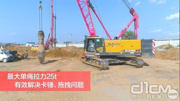 """""""强夯能手,左宜右有"""":三一SCC600HD多功能履带起重机"""