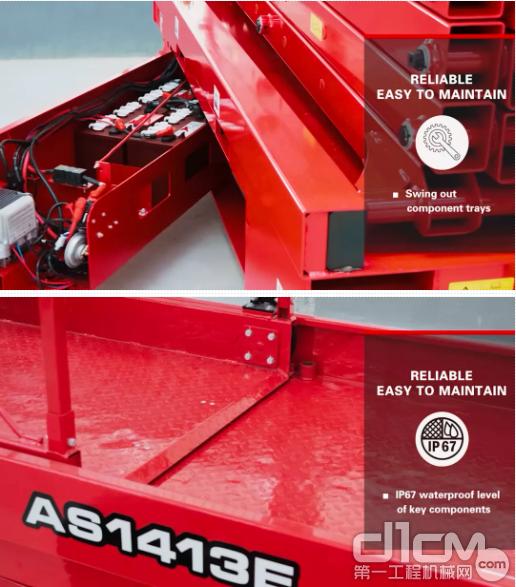 临工重机AS1413E电动剪叉式高空作业机械可靠,易于维护