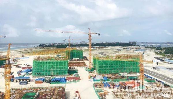 广厦租赁的设备在项目中施工