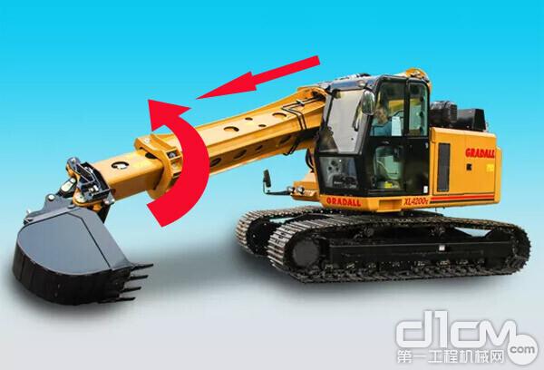 独特的Gradall直臂式挖掘机:动臂可旋转360度,特殊施工作业神器