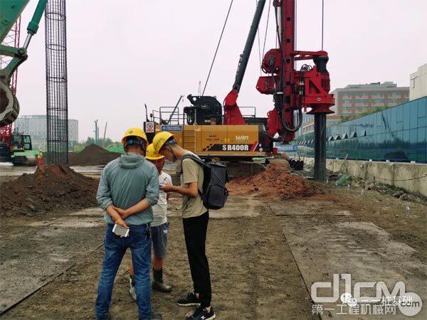 三一SR400RW旋挖钻机:智慧钻机建设南京白下高新智能交通产业园