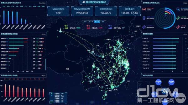 庞源在线系统实时反馈庞源塔机设备运行情况