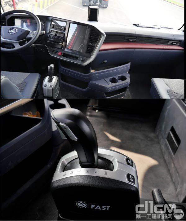 三一重卡江山版牵引车驾驶室内拍图