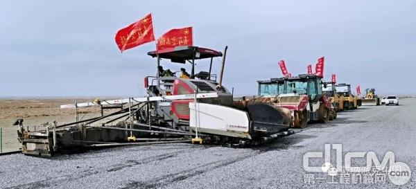 戴纳派克全系列筑路设备助力中交西筑G215线马桥公路建设