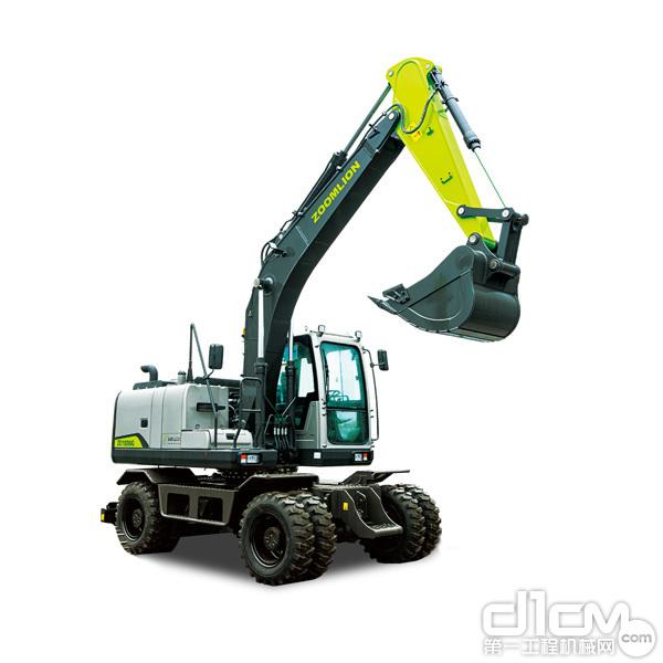 △即将亮相上海宝马展的中联重科轮式挖掘机新品