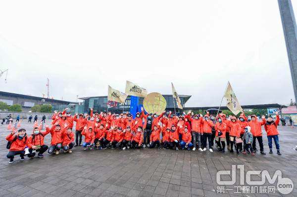 工程机械BOSS团上海宝马展集体合影