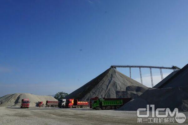 位于广东省惠州市博罗县的石材厂