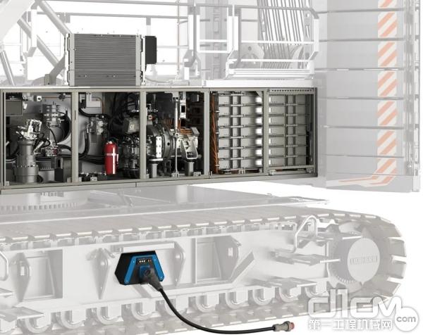 利勃海尔220吨容量的电力驱动新型履带起重机LR 1200.1