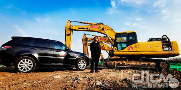徐威豪与他的小松挖掘机
