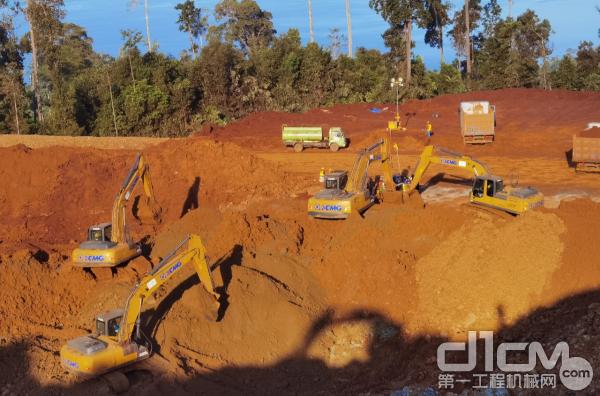 徐工挖机助力印尼矿业开采