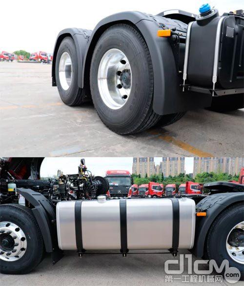 王道435全车标配铝合金轮毂、铝合金油箱、铝合金变速箱等轻量化设计
