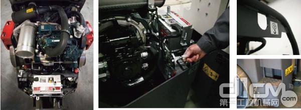 独有液压风扇驱动技术、久保田发动机、双频双幅