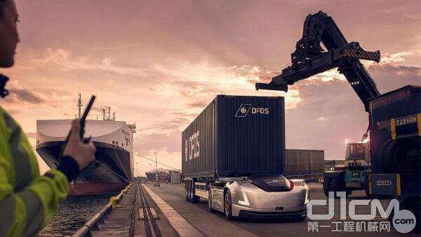 沃尔沃电动互联自动驾驶卡车Vera