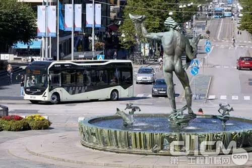 瑞典哥德堡市55路电动巴士线路正式投入运行