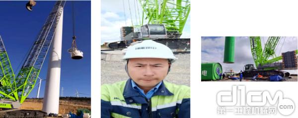 风电施工项目及服务工程师陈勇师跟车图
