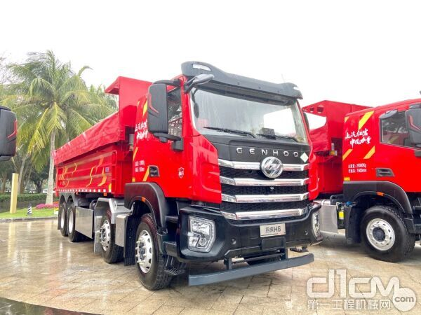 红岩杰虎H6 8×4自卸车