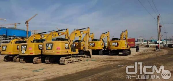 Cat ®(卡特)挖掘机在施工现场助力3号地块建设