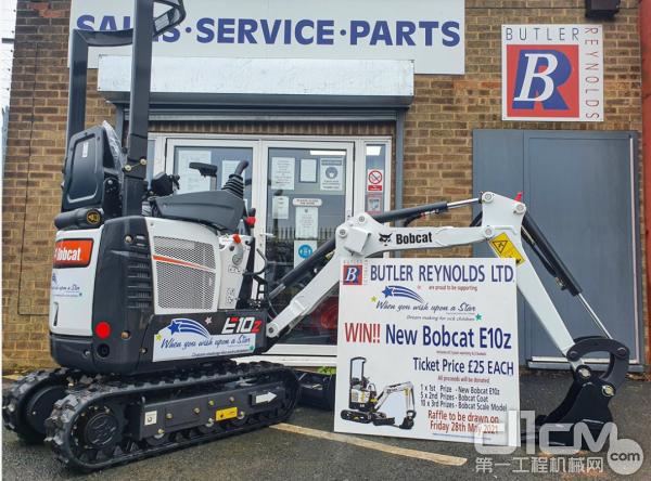 山猫英国经销商将E10z小型挖掘机
