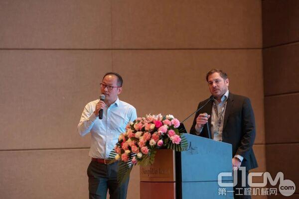 沃尔沃遍达中国区总裁Daniel Boberg发言