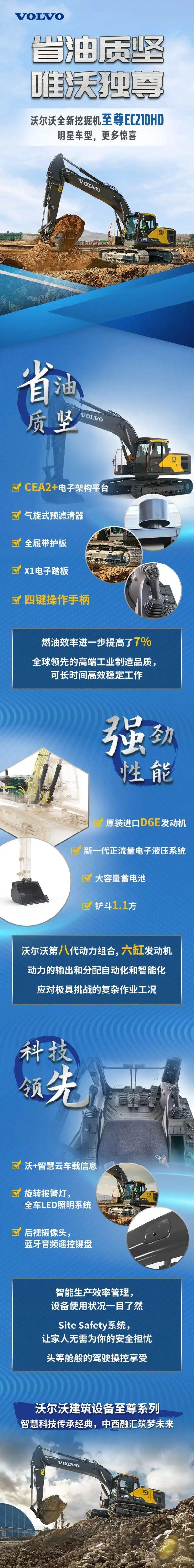 至尊系列EC210HD挖掘机