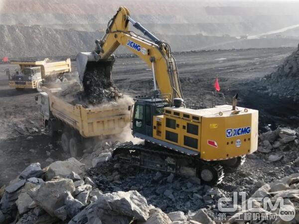 徐工矿用挖掘机的出勤率高达92%