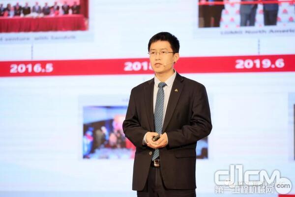 临工重机总经理助理、高机出口公司经理宋玉星对2020年海外市场运营总结并做2021年目标与行动规划报告