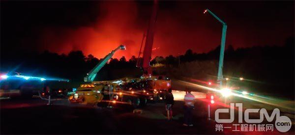 火灾现场拍图